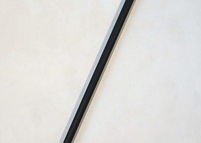 """""""Pied de biche"""", 157x18cm, deux pieds de biche + tube"""