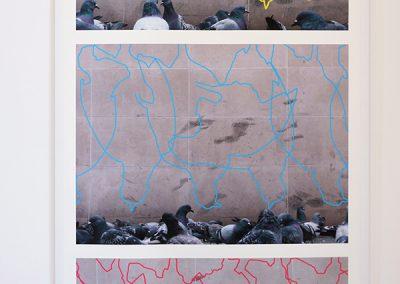 Poudre bleu Beaubourg, photo éditée à 7 exemplaires, 186x85cm, Digigraphie Epson, RLD, 2010