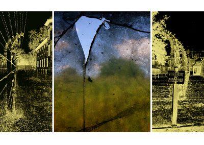Ohne titel (sans titre), photo (Auschwitz, prise de vue argentique 1994 et numérique 2014) éditée à 7 exemplaires, Digigraphie Epson, RLD, 91X176cm, 2014