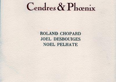 LA13BIS : Roland Chopard, Noël Pelhate, Cendres et Phoenix, Dessin de Joel Desbouiges, éditions AEncrages, Baumes les Dames. 2007.