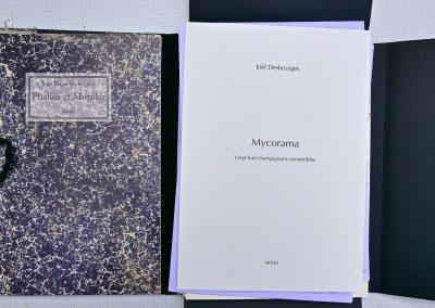 LA14 : Jean Pierre Verheggen, Phallus et Morilles, Mycorama, Dessins de Joël Desbouiges, éditions Artgo, Saint Etienne les Orgues. 2010.