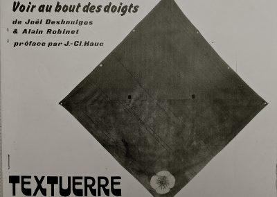 LA2 : Alain Robinet, Voir au bout des doigts, Gravures rehaussées de Joël Desbouiges, Textuerre N°36, 1982.