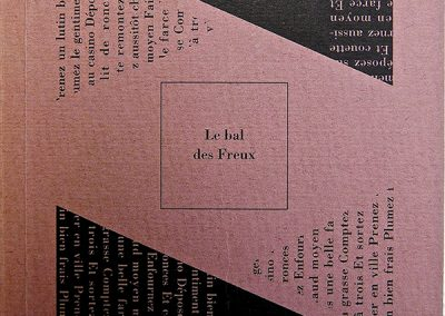 LA8 : Jean François Richard, Le bal des freux, Gravure dessin de Joel Desbouiges, éditions Erti, Vesoul. 1992.