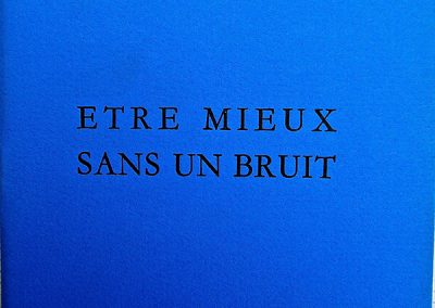 LA9 :François de Cornière, Etre mieux sans bruit, Gravures de Joël Desbouiges, éditions Fario. 1993.