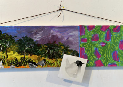 """"""" Rivière d'images """", acrylique sur carton , 12x40cm, février- juillet 2018"""