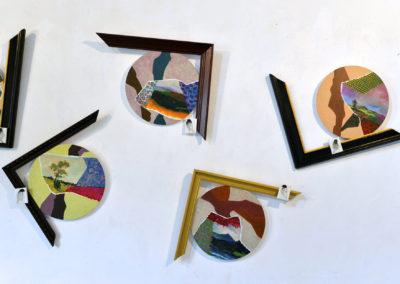 ''Le temps des cerises'' , 60x50cm, juin 2018, acrylique sur toile tendue, cadre