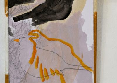 ''L'orée d'un silence'' dessin, acrylique sur toile, 21 exemplaires, 24x18cm ,juin 2018