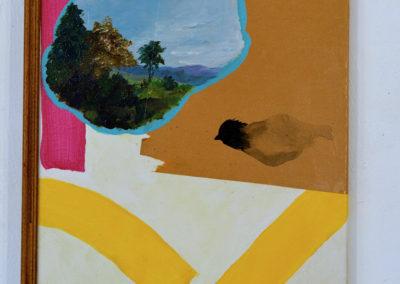 '' Parfum ensoleillé '', 14 exemplaires, acrylique, kraft collé sur toile tendue , 40x20cm, août 2018