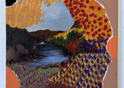 '' Le vent se lève '', 70 x 50 cm, juin - août 2018, acrylique sur toile tendue