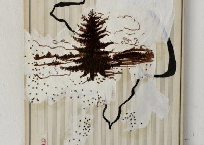 '' Avec le brouillard givrant ',' 27 x 22 cm, Juillet - août 2018, acrylique et encre de chine