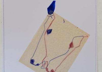 """""""Pistage et branches brisées"""", juin 2018, 70x50 cm, encre et acrylique"""