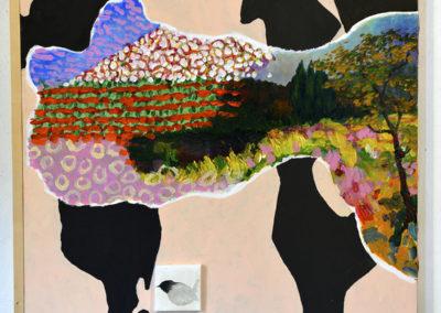 '' Le vent se lève '', 61 x 61 cm, juillet - août 2018, acrylique sur toile tendue