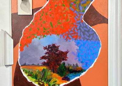 """""""En dehors du fourré"""", août - septembre 2018, 75x60 cm, acrylique sur toile tendue"""