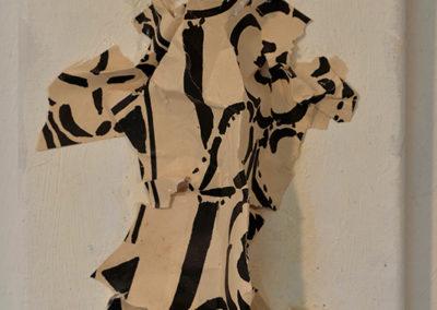 ''Les voyageurs'', papier, peinture à l'huile, queue de vison, 40x30cm